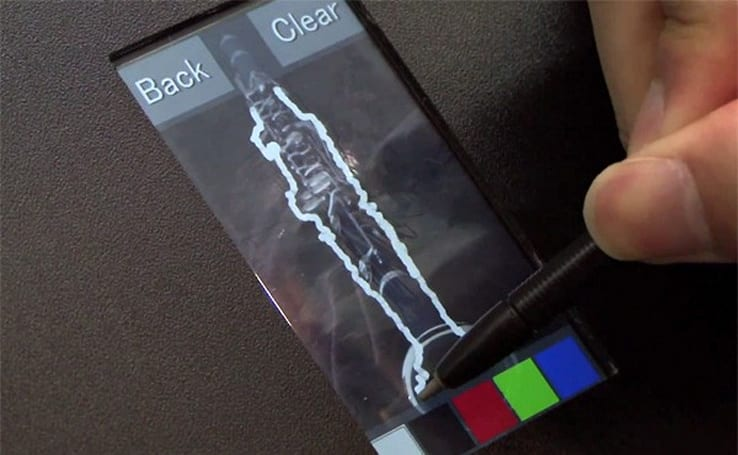 Hitachi displays a capacitive screen capable of accepting stylus input (video)