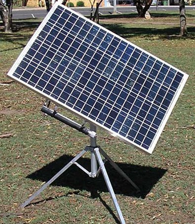 Portasol Solar Tracker continuously faces the sun