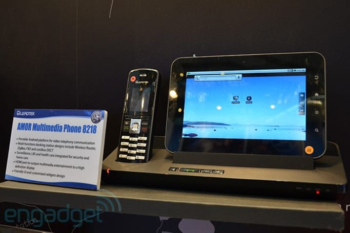 Leadtek AMOR 8218 DECT phone with Tegra 2 Android tablet hands-on