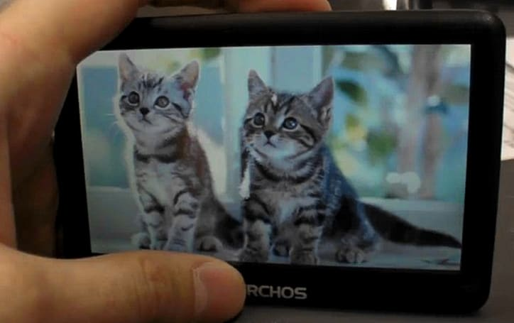 Archos's budget Vision A43VB PMP caught on camera making kittens sad (video)