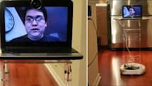 Johnny Chung Lee makes DIY telepresence bot out of an iRobot Create and a netbook