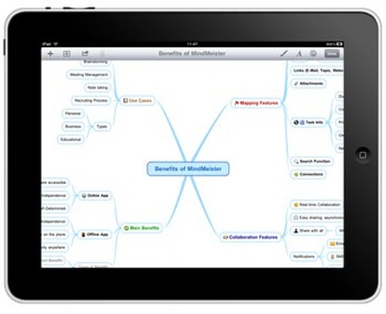 MindMeister comes to the iPad