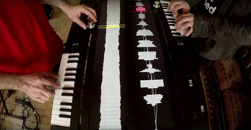 Two-player synthesizer looks just as wild as it sounds