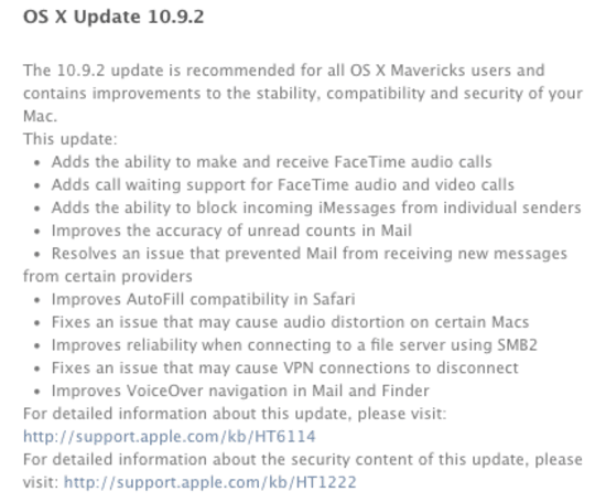 OS X Update 10.9.2 now available, patches SSL/TLS hole [Updated]
