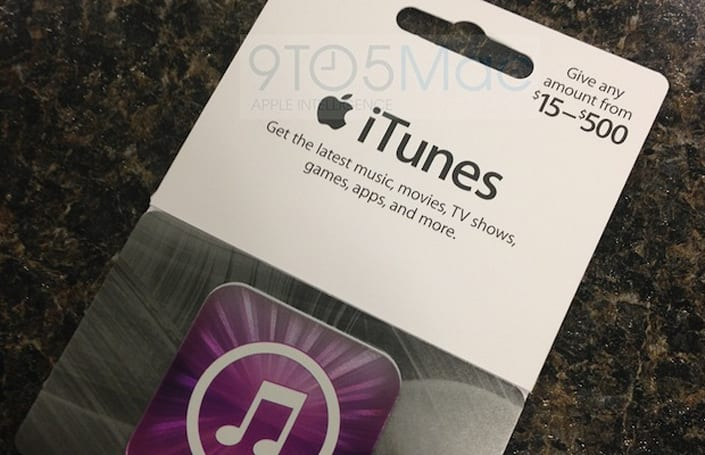 Variable iTunes gift cards hit retailers just in time for holiday shopping