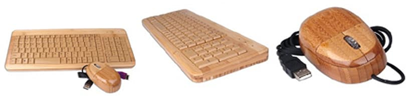 Wooden mouse / keyboard for the budget-minded set