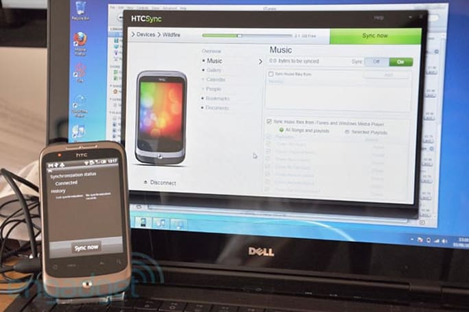 HTC Sync 3.0 for Wildfire hands-on: iTunes sync tested (video)