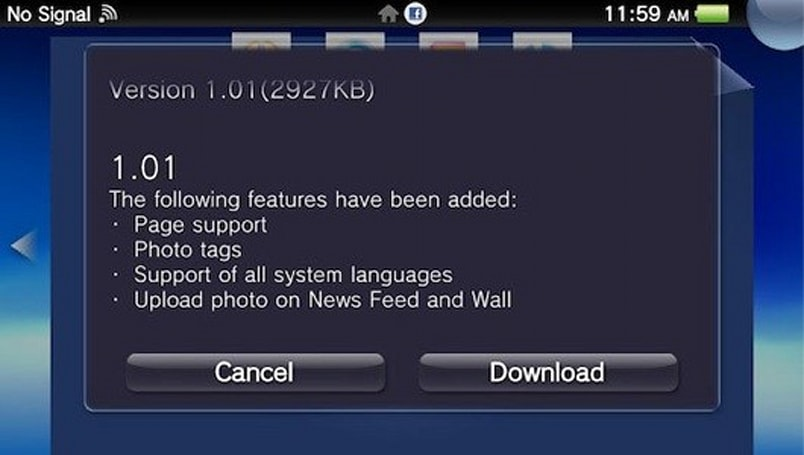 PSA: Vita Facebook app updated to 1.01, adds photo uploading