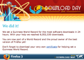Firefox 3 Download Day a huge success