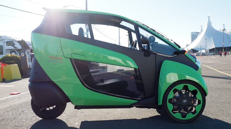 The Toyota i-Road is the funnest electric vehicle on three wheels
