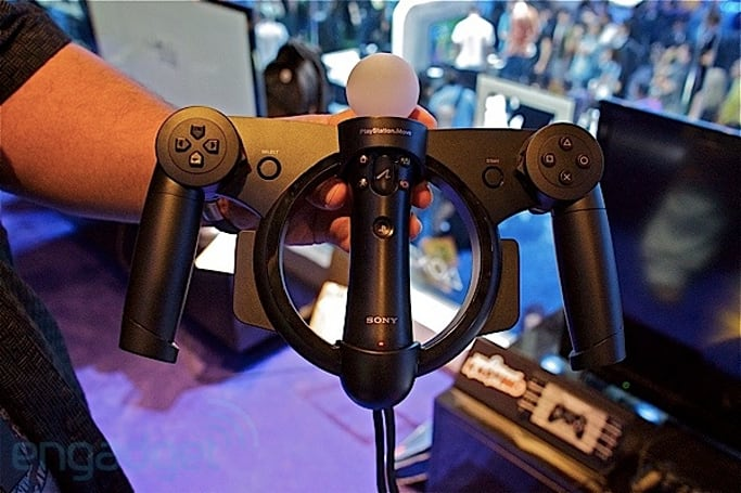 Sony PlayStation Move Racing Wheel hands-on (video)