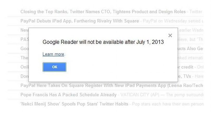 The outrage and sadness of Google Reader's demise
