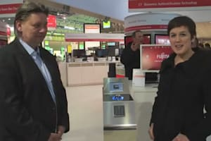 Fujitsu PalmSecure Demonstration at CeBIT 2013
