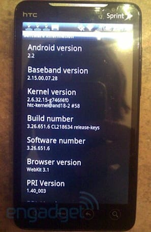 HTC EVO 4G Froyo .6 update seems to fix early adopter issues