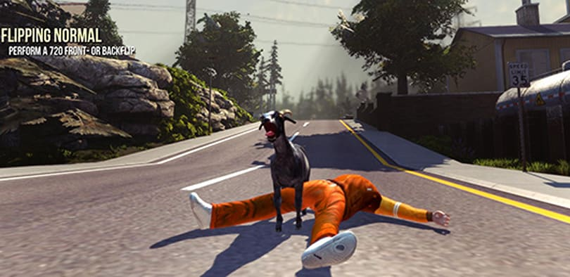 Multiplayer hijinks, new map join Goat Simulator in May