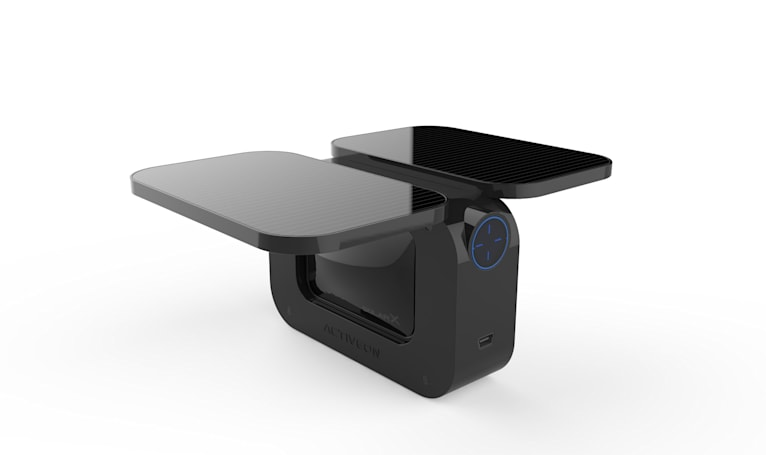 Solar-powered action camera charges itself in about an hour