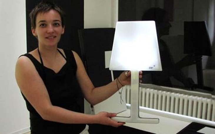 Maria Hamprecht's SW� solar lamp can take it in, dish it out