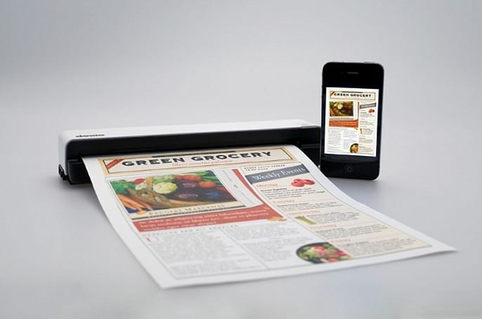 Doxie Go portable scanner creates searchable PDFs without a PC, syncs to almost anything