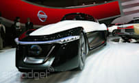 Nissan's BladeGlider electric concept car should definitely race the Batmobile (eyes-on)