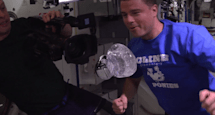 Tour the space station in 3D, or from inside a water bubble (video)