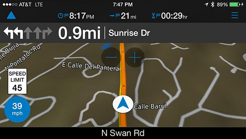 Test driving the new Garmin viago navigation app