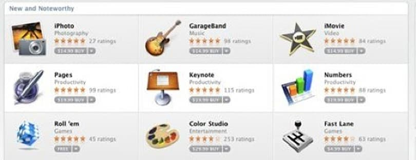 Apple's example Mac app prices land around $15-20