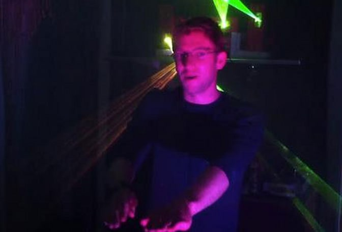 Kinect hack turns your living room into a crazy one-man laser techno dance party (video)