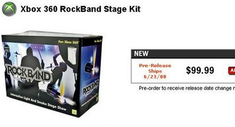 Rock Band Stage Kit with lights, smoke leaked by GameStop
