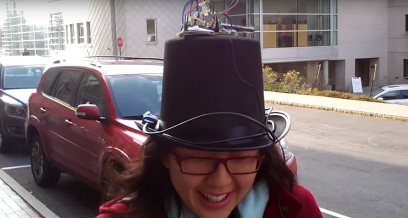 GPS top hat uses directional sound to show the way