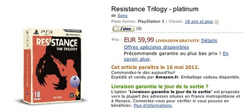 'Resistance: The Trilogy' pops up on Amazon France with May 16 launch