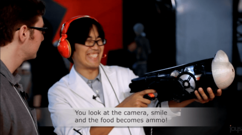 Food Practice Shooter: TGS 2013's nutritional AR chewing/light-gun game