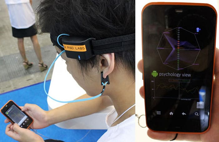 KDDI's mind-reading Android app monitors your brainstorms, or lack thereof... (video)