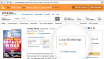 Bookindy Chrome extension lists local options for books on Amazon