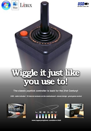 Legacy Entertainment's Atari-style joystick isn't as old as it looks
