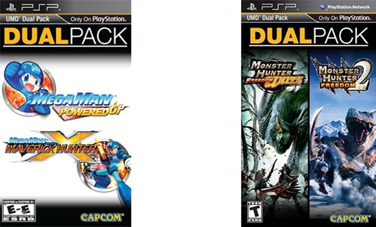 Mega Man and Monster Hunter bundled up for PSP