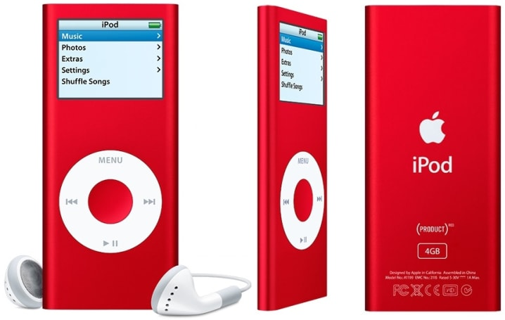 iPod nano (PRODUCT) RED now shipping