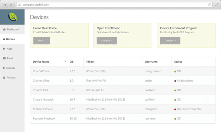 JAMF Software's Bushel: Mobile device management without an IT department