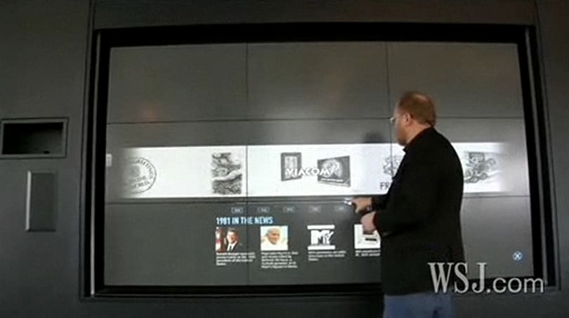 HP shows off 'wall of touch' concept, touching optional