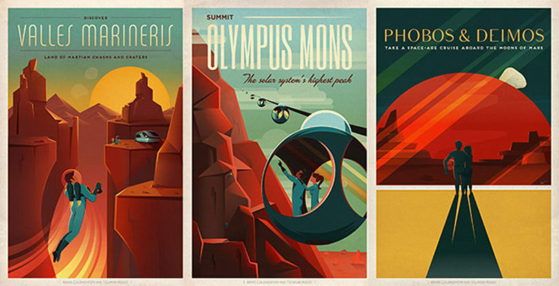 SpaceX's Mars travel posters make us want to explore the red planet