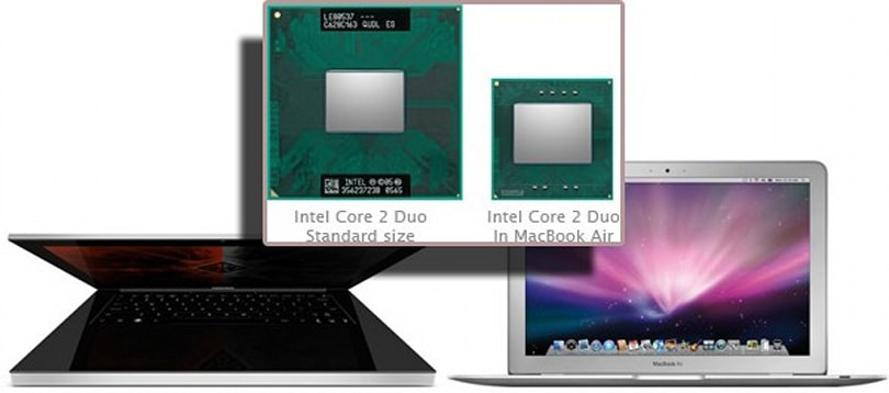 Voodoo's Envy 133 using custom MacBook Air CPU?