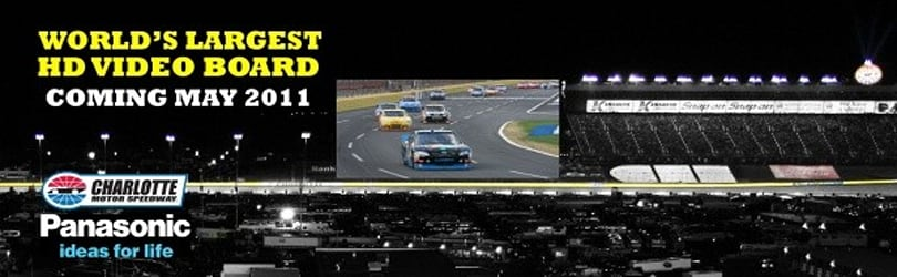 Charlotte Motor Speedway and its huge HD screen will host the Top Gear 300 in May