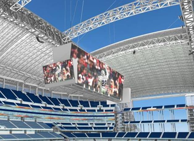 Full specs on the Dallas Cowboys world's largest 1080p LED scoreboards
