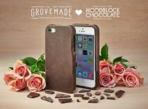 Grove and Woodblock Chocolate team up to make edible iPhone case