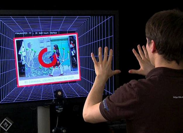 Fraunhofer FIT touch-free gesture-control for multiple users (video)