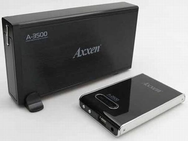 Axxen kicks out trio of portable HDD enclosure / card reader hybrids