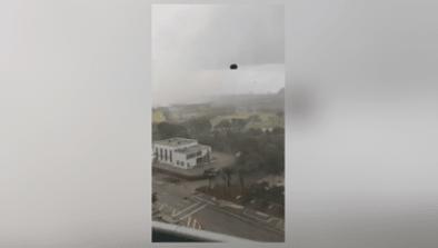 Furniture Rains Down During Bad Miami Storm