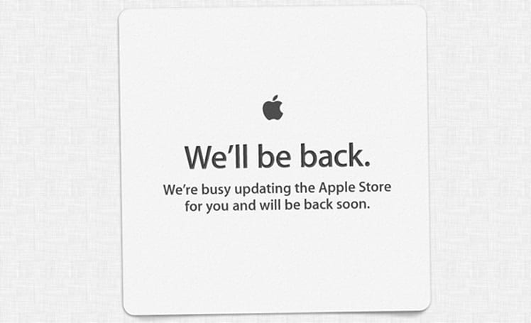 The Apple store is down... here we go