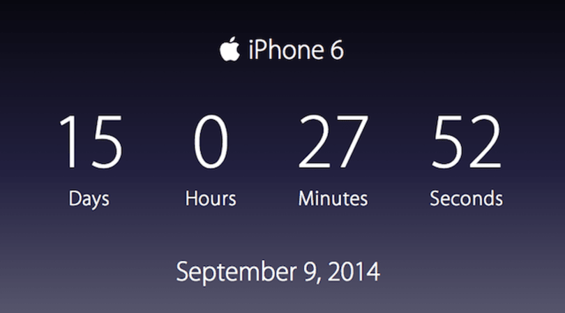 Apple Timer helps you count the minutes until the next Apple event