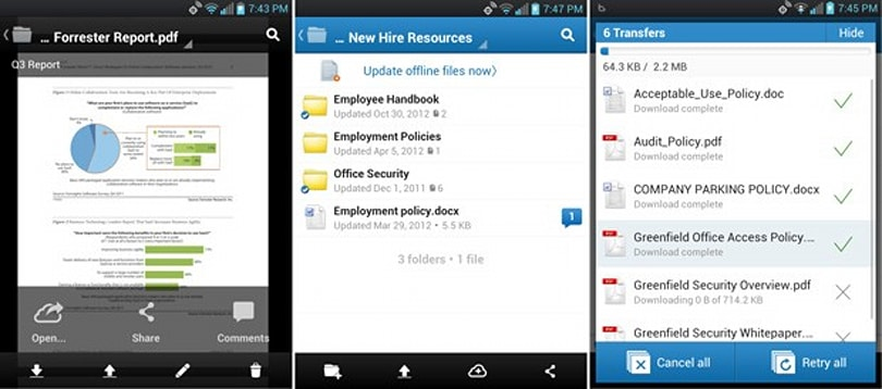 Box for Android 2.0 brings file previews, offline folders and more