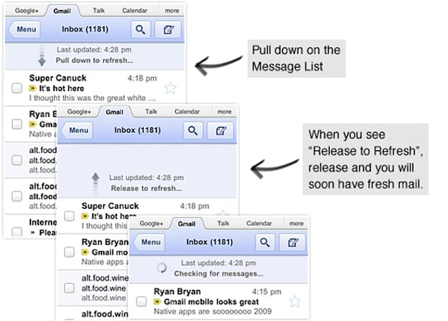 Gmail for Mobile gets a facelift, now ready for its Retina Display close-up